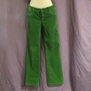 Kelly green corduroy pants